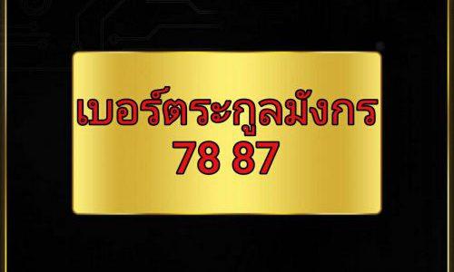 เบอร์ตระกูลมังกร 78 87